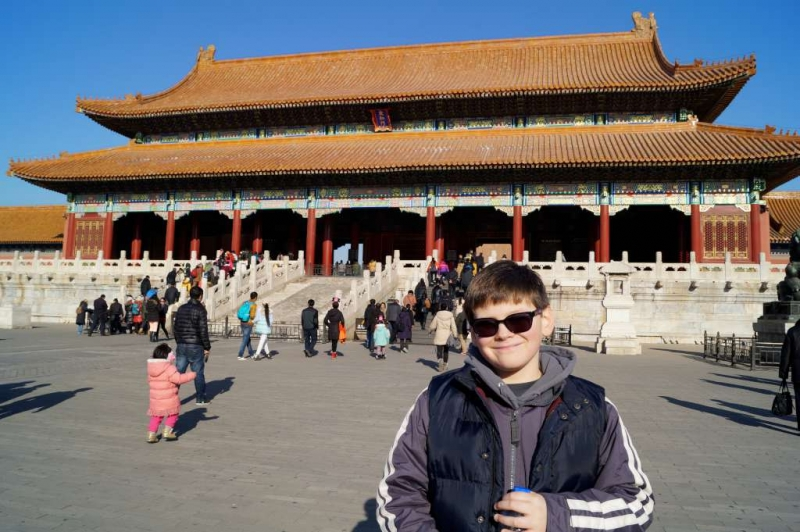 Carlen at Forbidden City